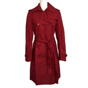 Norma Kamali Red Trench Coat Size M 8/10